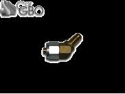 Штуцер для термопластиковой трубки FARO D6-D8 45° с резьбой