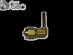 Штуцер для термопластиковой трубки FARO D6 угловой